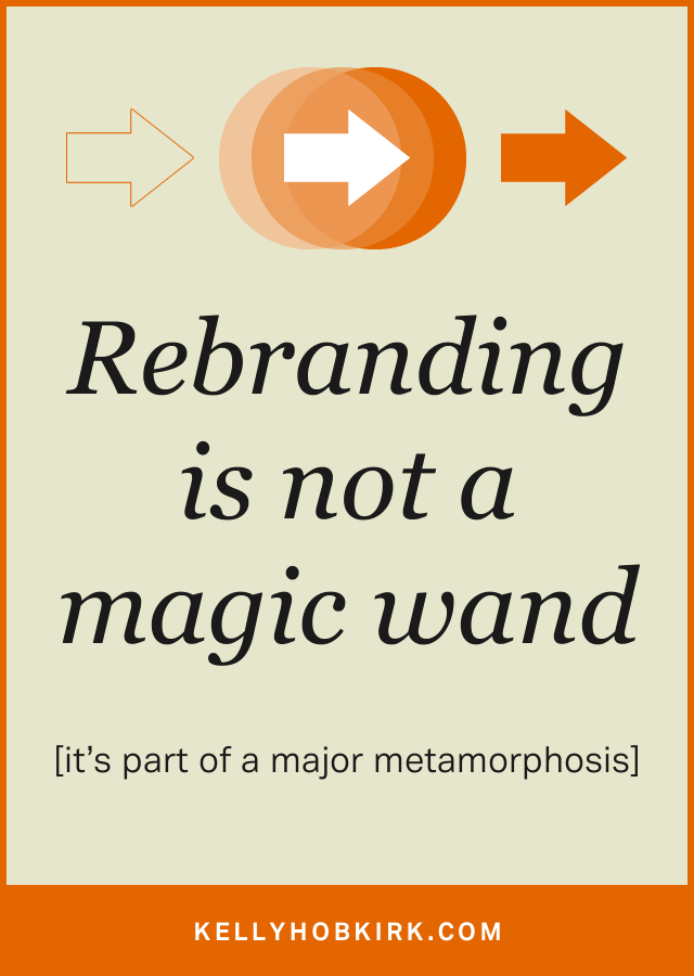 Rebranding is not a magic wand