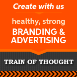 Train of Thought branding and advertising